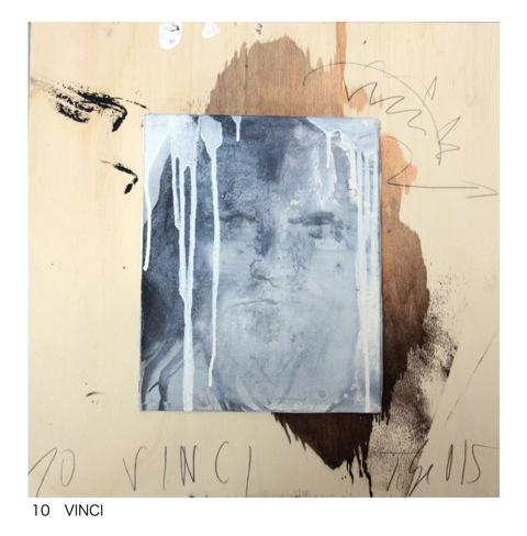 Thomas Lange, Leonardo, 2015, mixed media on canvas on board, 50 x 50cm