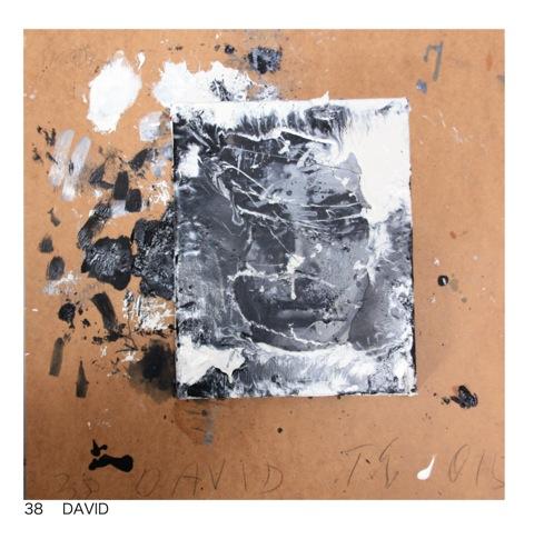 Thomas Lange, David, 2015, mixed media on canvas, 50 x 50cm
