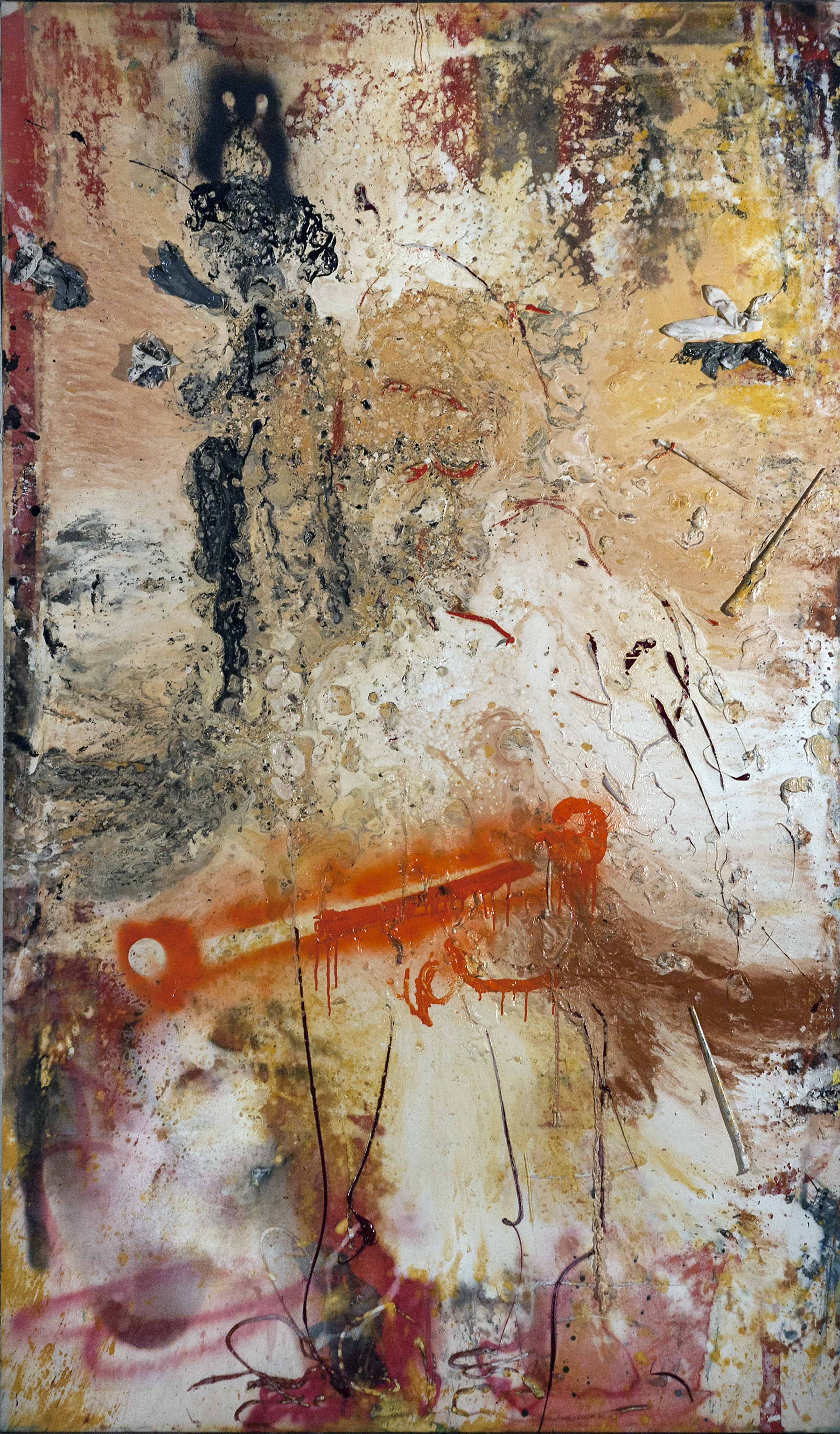 Thomas Lange, War apostel, 2014, mixed media on canvas, 250 x 150cm