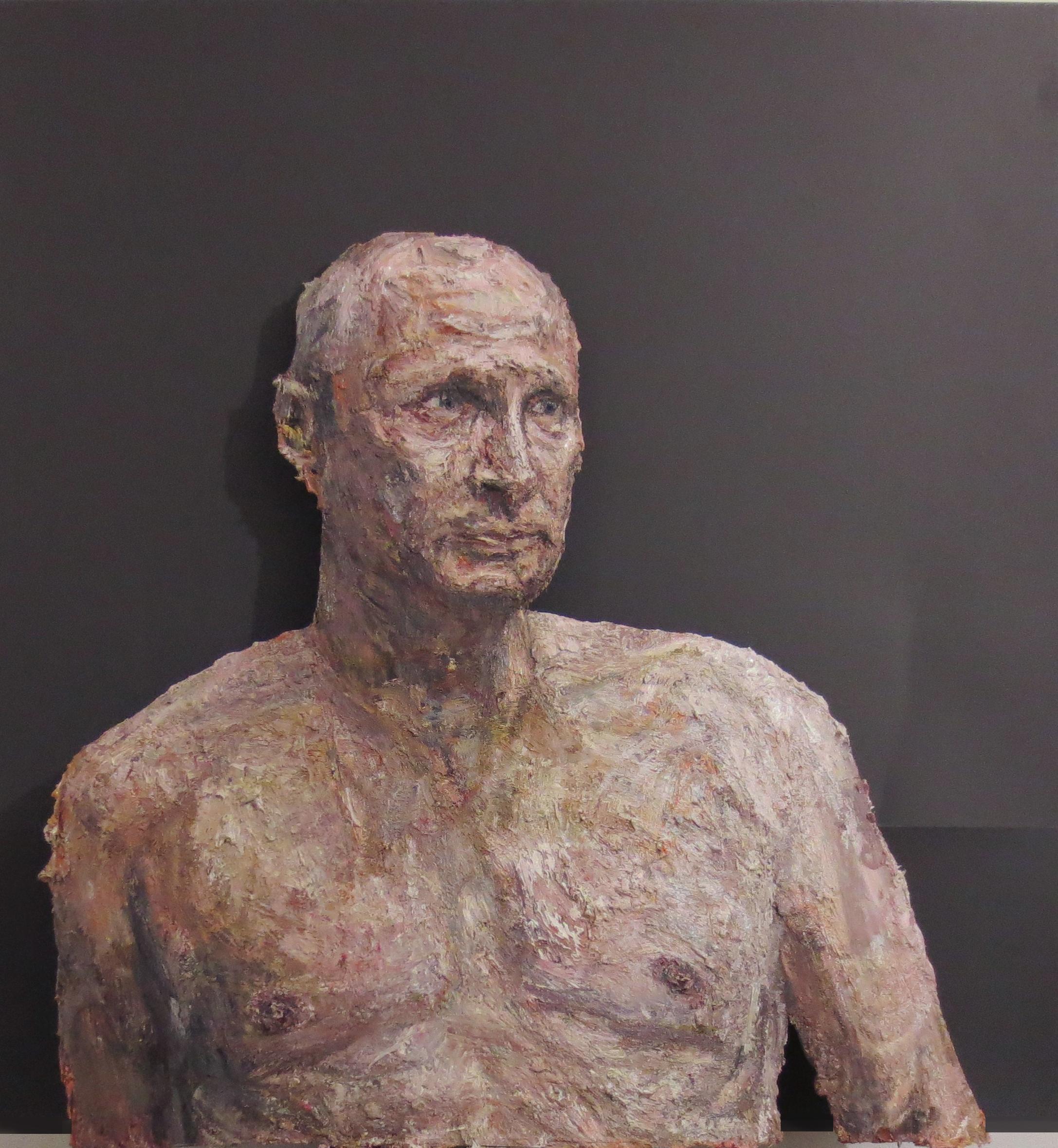 Aleksander Velišček, Putin, 2013, tecnica mista, 99 x 86 cm