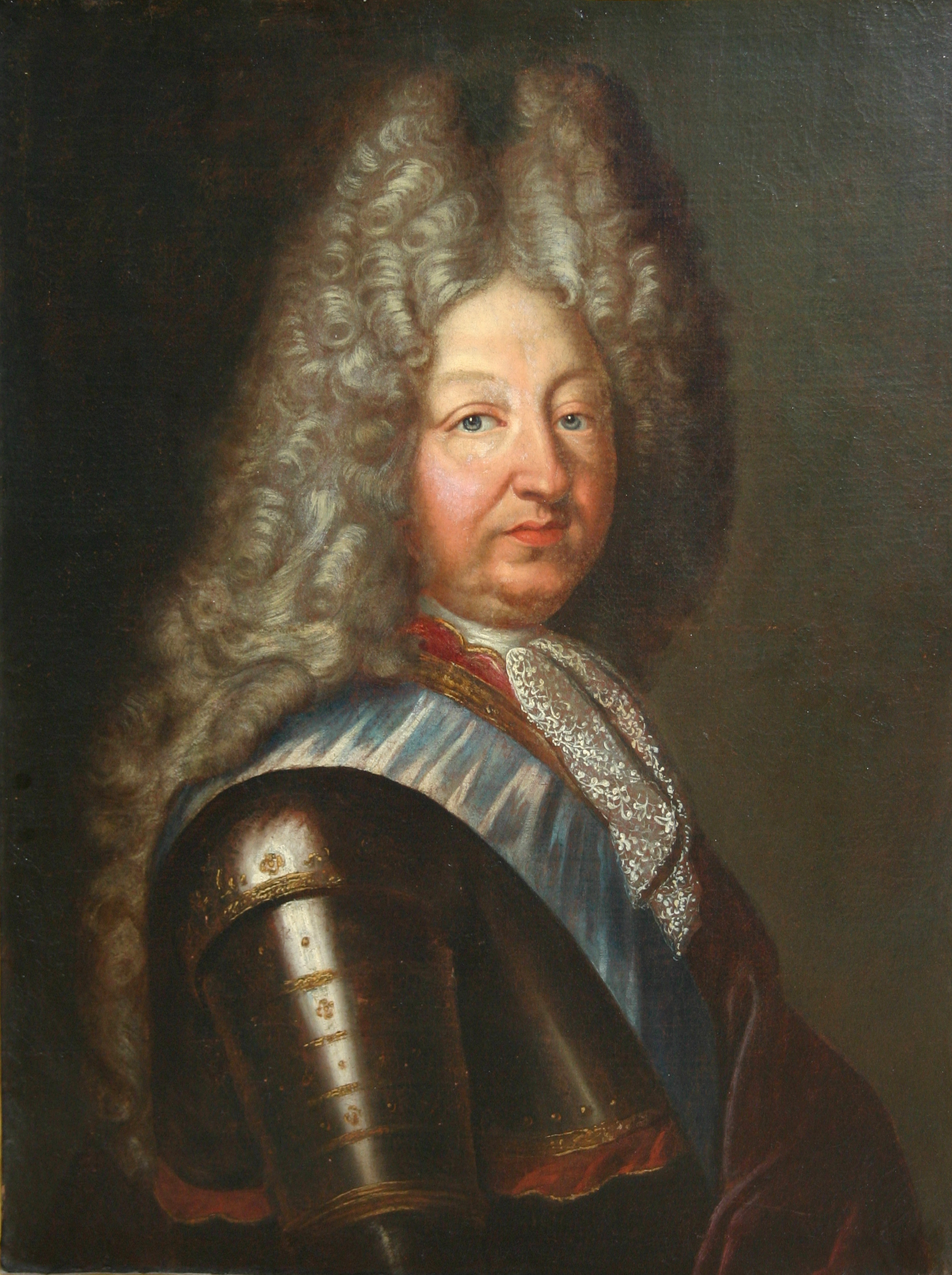 Portrait of Louis XIV, artist unknown, late 1600s, oil on canvas, 99 x 88 cm