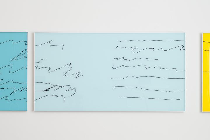 Daniel Hafner, 2013, pespex, marker, paint, cm 50 x 100 cm
