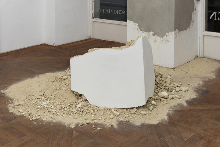 Daniel Hafner, Demolition Waste, 2014, plaster and paint, variable size