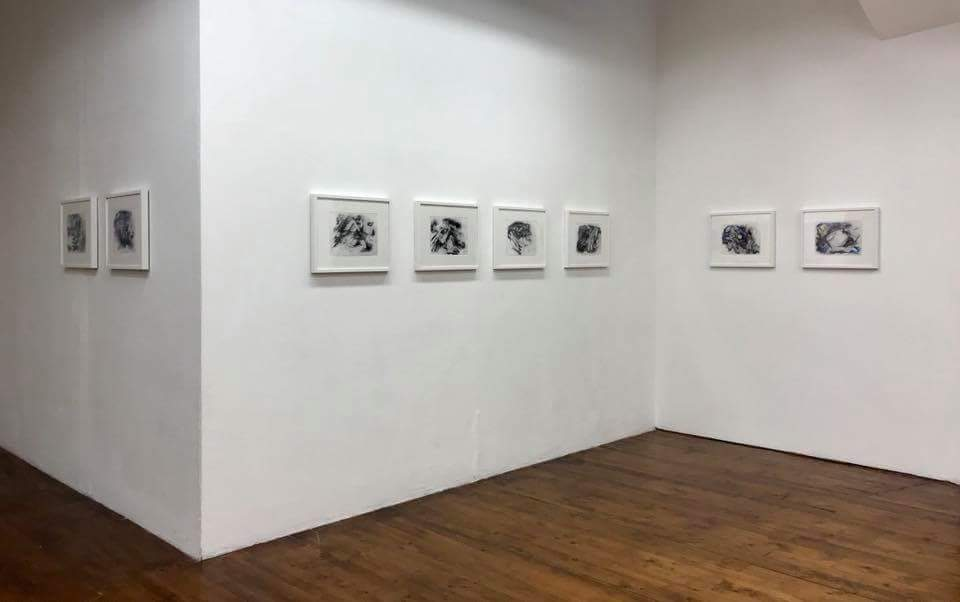 Tales for late at night, Gudrun Krebitz wall - view of the show