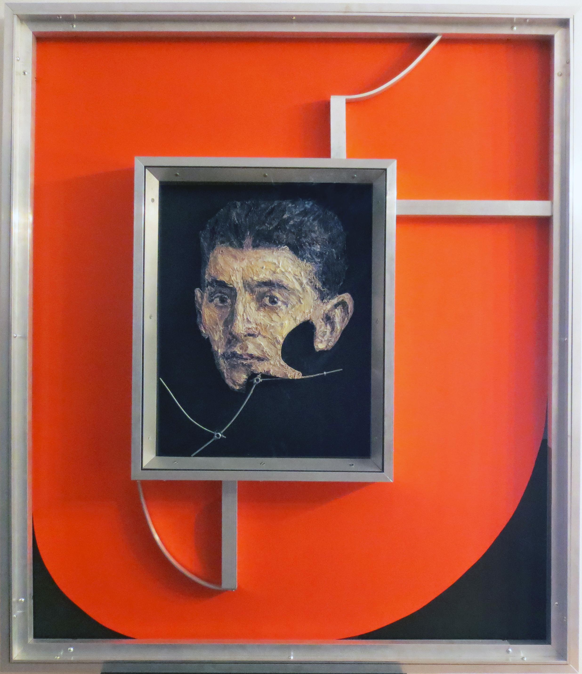 Aleksander Velišček, Franz Kafka  2017, mixed media, cm 111,5 x 95,5