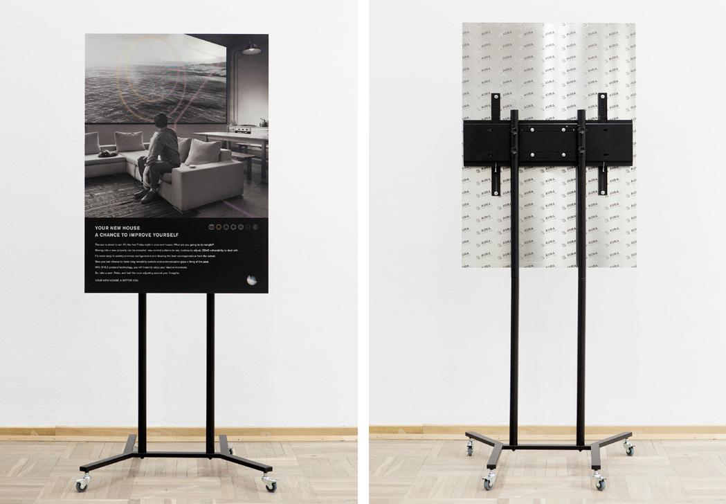 Discipula, How Things dream 2016, digital print on aluminium, 190x85 x70cm