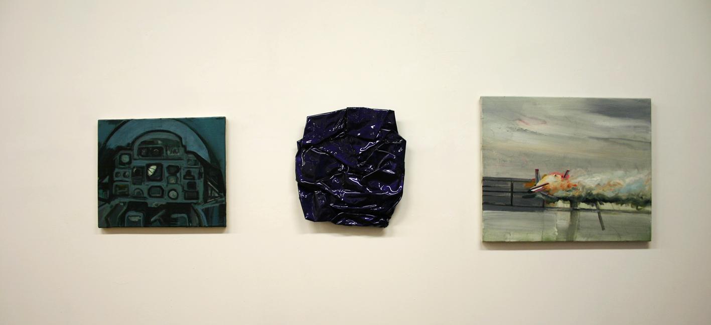 Gino Blanc, Crash, 2014-2016, oil and mixed media, variable sizes