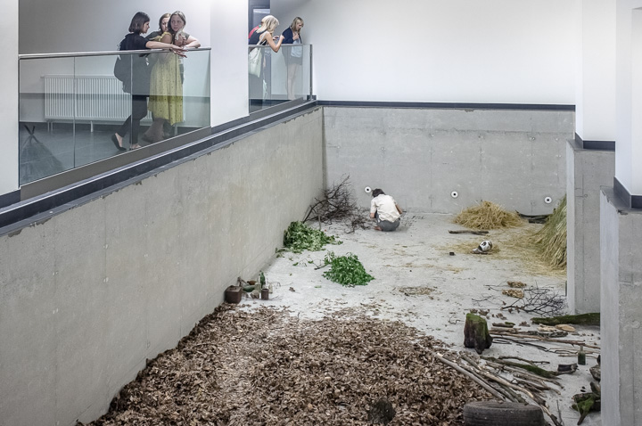 Daniel Hafner, Modern Man, 2014, performance at Kunsthalle, Kosice
