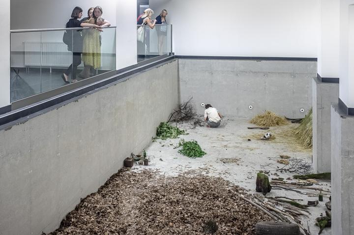 Daniel Hafner, Modern Man, 2014, performance at Kunsthalle, Kosice