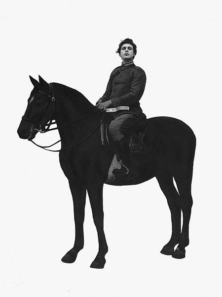 Adalberto Abbate, Sic Semper Tyrannis, dalla serie Rivolta, 2009, collage digitale stampato su Pvc, 330 x 240 cm