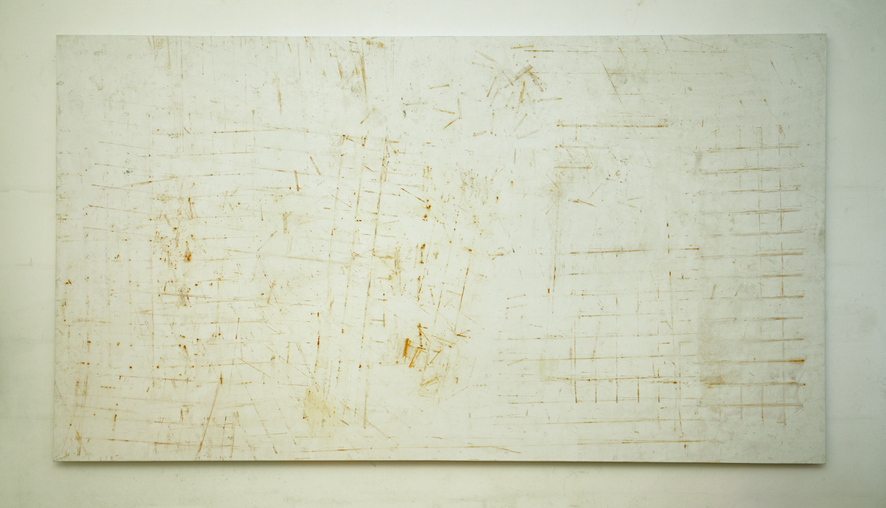 Valentina Palazzari, Untitled, 2016, rust on canvas, 200 x 360cm