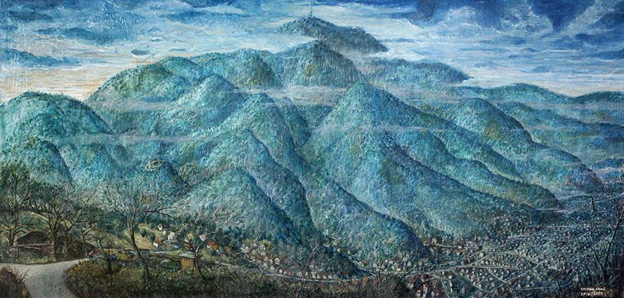 Stipan Tadić, Sljeme, 2017, oil on canvas, 290 x 150 cm