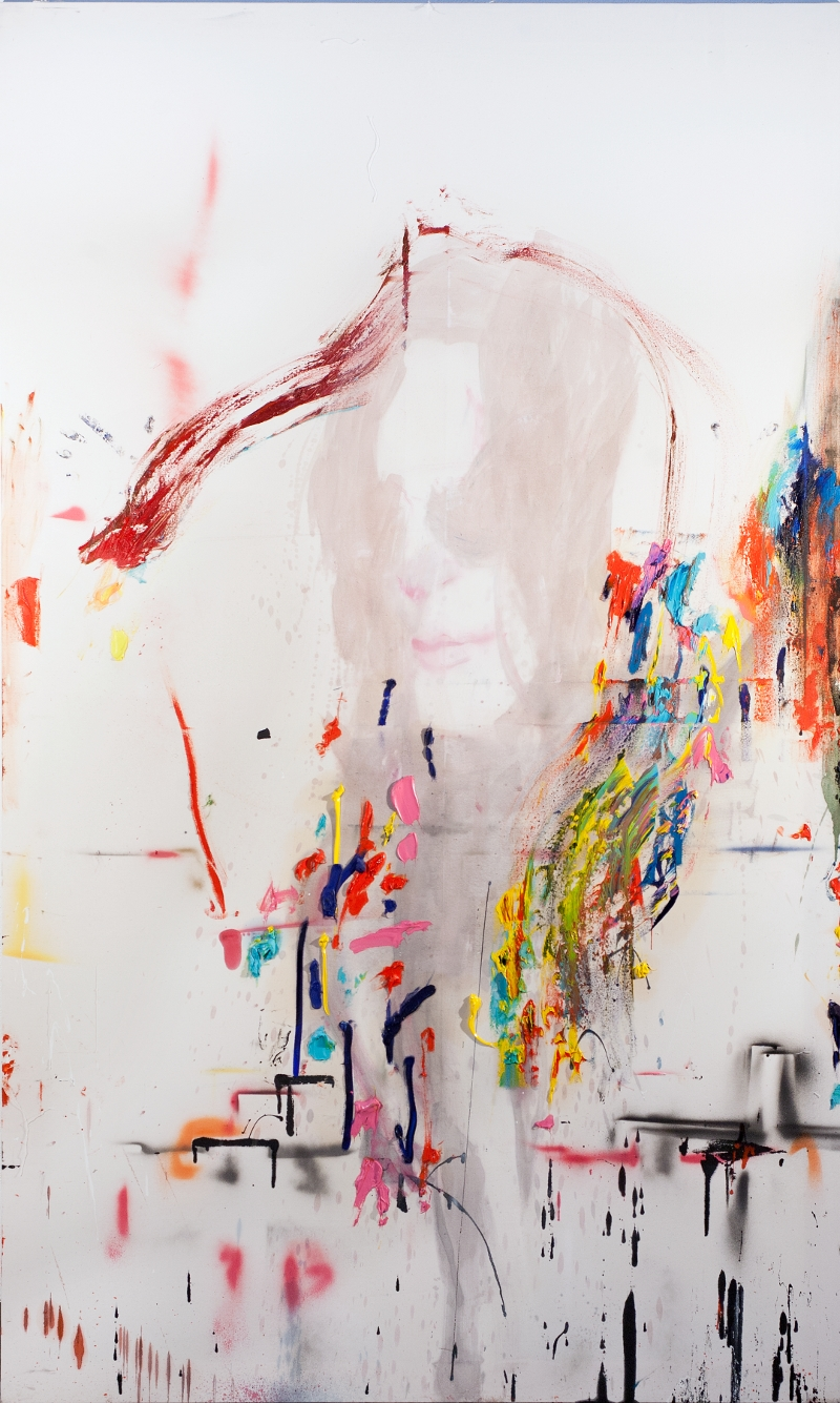 Thomas Lange, War apostel, 2013, mixed media on canvas, 250 x 150cm