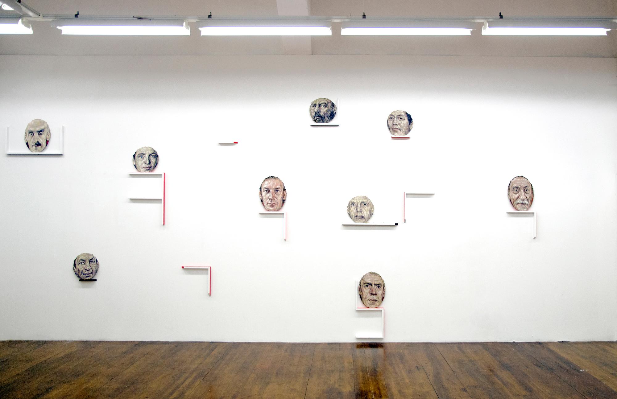 Aleksander Velišček, view of the exhibition, 2017, MLZ Art Dep