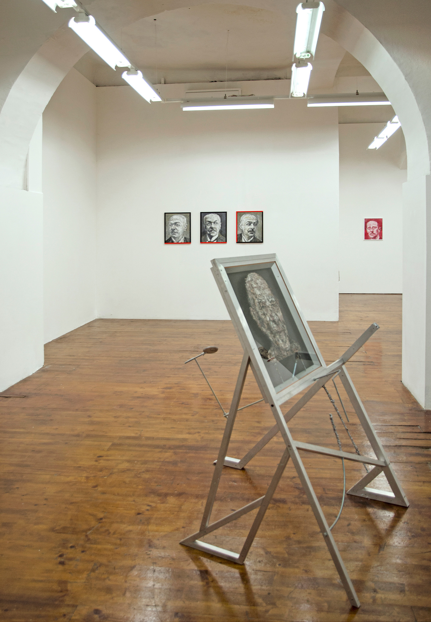 Aleksander Velišček, veduta della mostra, 2017, MLZ Art Dep